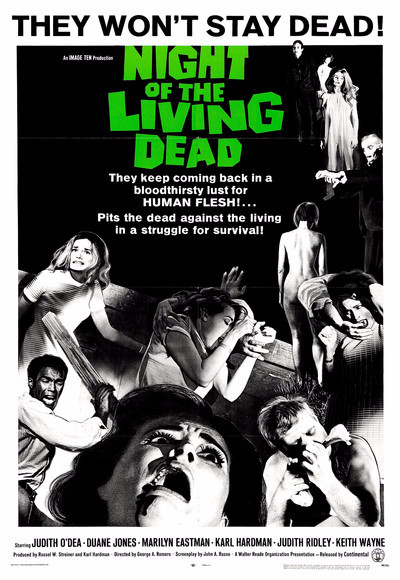 Night of the Living Dead Theatrical Poster 1968